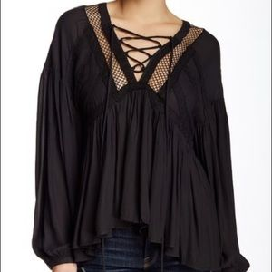 "Free People ""Don't Let Go"" Peasant Top"